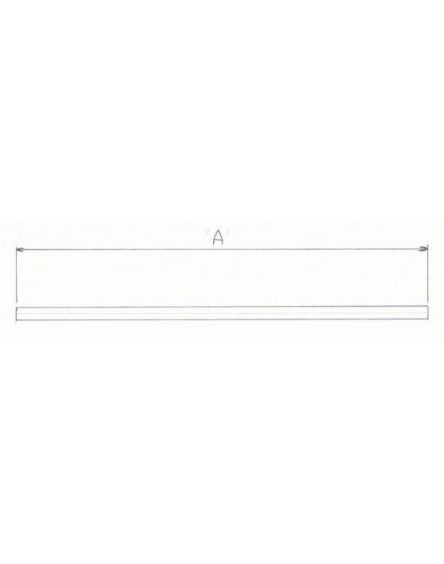 1″ Straight Bar – Medium – In Black Or Chrome